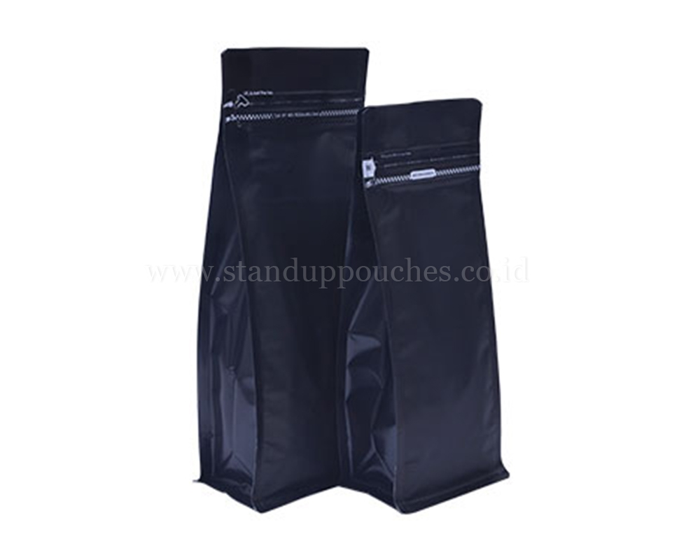 Matt Black Pouches with Tear Off Zipper